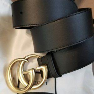 gucci double G classic black belt 85cm